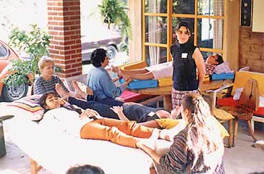 Foot reflexologie lessons in Mexico 1997